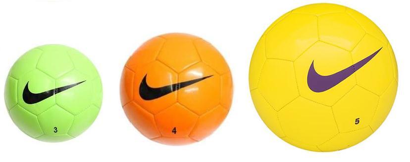 размеры футбольных мячей 3-4-5